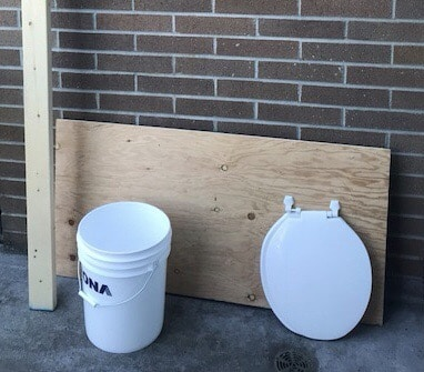 Supplies to build a composting toilet
