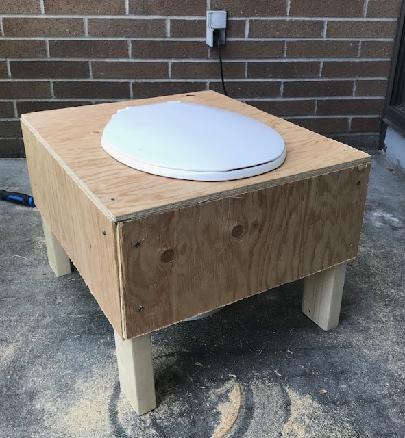Finished composting toilet